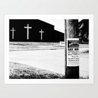 Wrestling with Religion Art Print