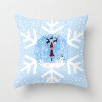 Whimsical Winter Wonderl… Throw Pillow