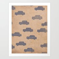 car Art Prints featuring Car by sinonelineman