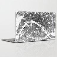 Paris Map Schwarzplan On… Laptop & iPad Skin