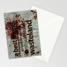 Zombie Infested Wasteland Stationery Cards