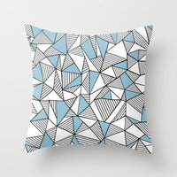 Abstraction Lines Sky Bl… Throw Pillow