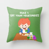 Rule #1: Eat your vegetables Throw Pillow