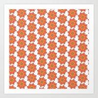 Spring Floral Pattern Art Print