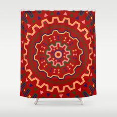 wayuu pattern Shower Curtain