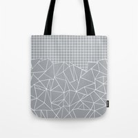Abstract Outline Grid Gr… Tote Bag
