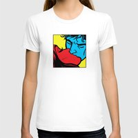 Iconic Kiss Womens Fitted Tee White SMALL