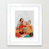 Overgrowth Explorer Framed Art Print