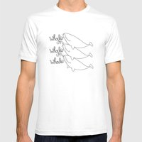 Whales! Mens Fitted Tee White SMALL