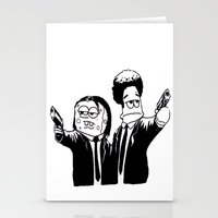 Pulp Fiction ( Patrick and Spongebob)  Stationery Cards