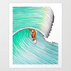 Bear Barrel Art Print