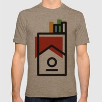 cigarette pack minimal Mens Fitted Tee Tri-Coffee SMALL
