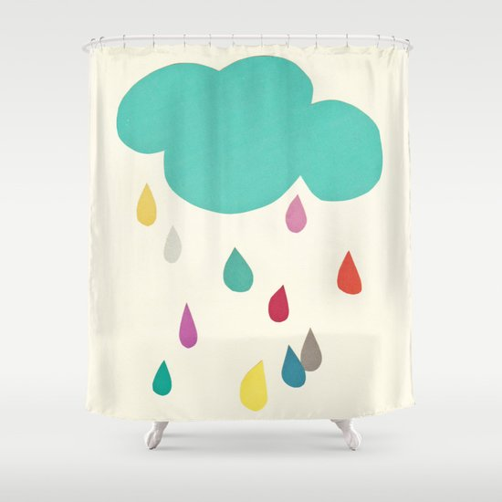 Sunshine and Showers Shower Curtain