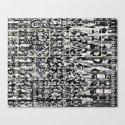 Variance Police (P/D3 Glitch Collage Studies) Canvas Print