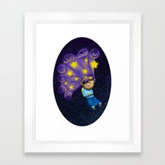 Dreaming Girl Framed Art Print