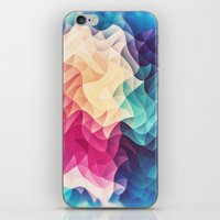 Geometry Triangle Wave Multicolor Mosaic Pattern - (HDR - Low Poly Art) iPhone & iPod Skin