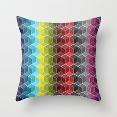 Hexagon Shades / Pattern #6 Throw Pillow