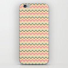 Pink And Blue Chevron Geometric Pattern iPhone & iPod Skin