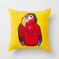 SquawkSquawk Throw Pillow