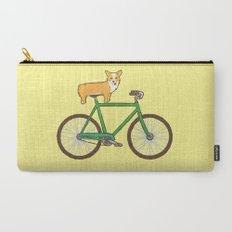 Corgi on a bike Carry-All Pouch