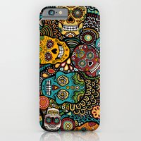 Calavaras - Day of the Dead Skulls iPhone 6 Slim Case