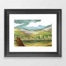 Goldenrod Grassland Framed Art Print