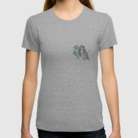 Blue Owls Womens Fitted Tee Athletic Grey SMALL