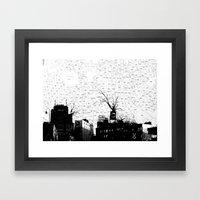 NYC splatterscape Framed Art Print