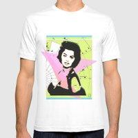 Sophia Loren Mens Fitted Tee White SMALL