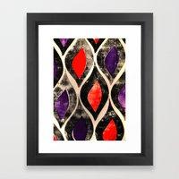 Press print ogee pattern Framed Art Print