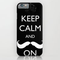 iPhone & iPod Case featuring Mustache by marianastutz