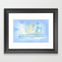 NOW I LAY ME DOWN TO SLE… Framed Art Print