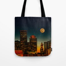 Boston Pink  Moon  Tote Bag