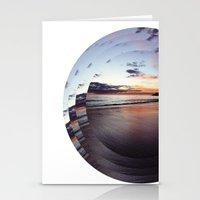 circular beach Stationery Cards