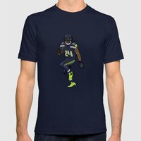Beast Mode Mens Fitted Tee Navy SMALL