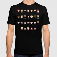 Rock Music Alphabet Mens Fitted Tee Black SMALL