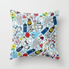 Lord Of Time Megamix Blu… Throw Pillow