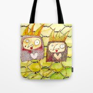 Chicken Jane And Jo Tote Bag