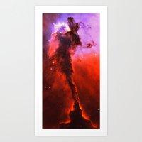 Red Nebula Art Print