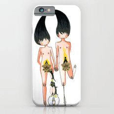 Eve and Adam with their penguins iPhone 6 Slim Case