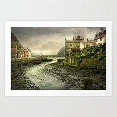 The Beck at Staithes Art Print