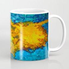 2 cut pixelated sunflowers Mug