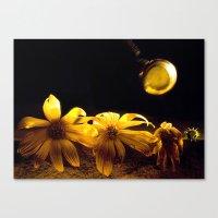 A Floral Pastime  Canvas Print