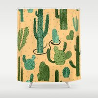 The Snake, The Cactus An… Shower Curtain