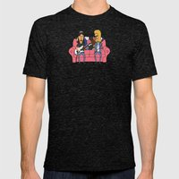 Party Time Excellent Mens Fitted Tee Tri-Black SMALL