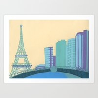 Pont Mirabeau Bridge Art Print