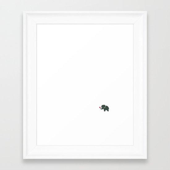 Elliefant Framed Art Print
