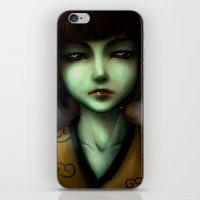 Green Skin Girl iPhone & iPod Skin