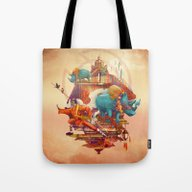 Tote Bag featuring Rhinos Stone by Tanya_tk