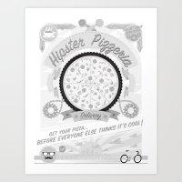 Hipster Pizzeria Art Print